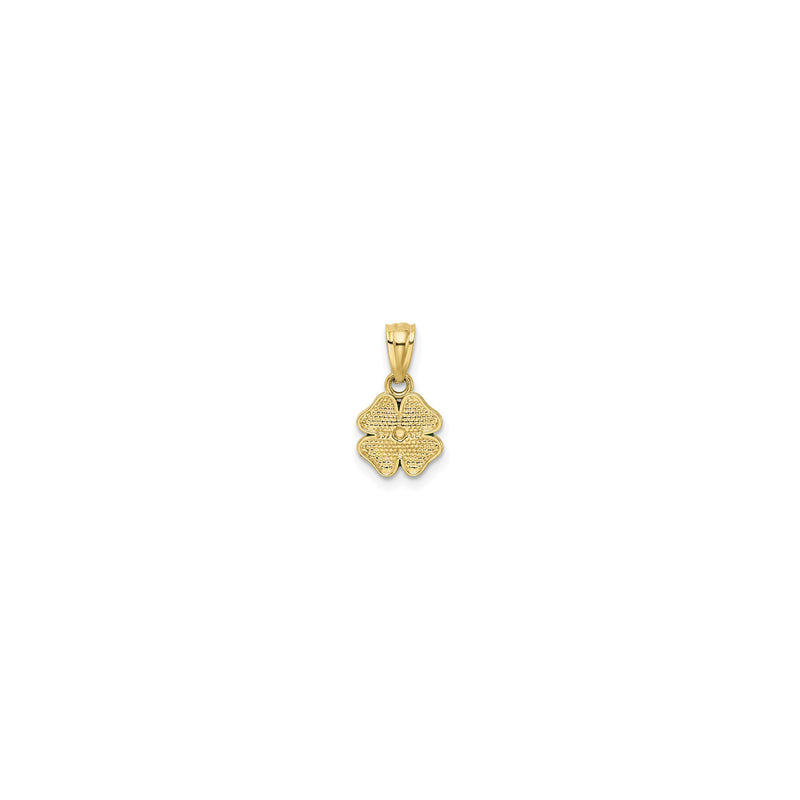 Lucky Clover Pendant (14K) back - Popular Jewelry - New York