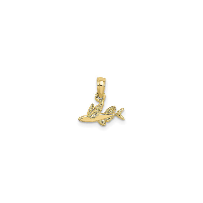 Mini Flying Fish Pendant (14K) front - Popular Jewelry - New York