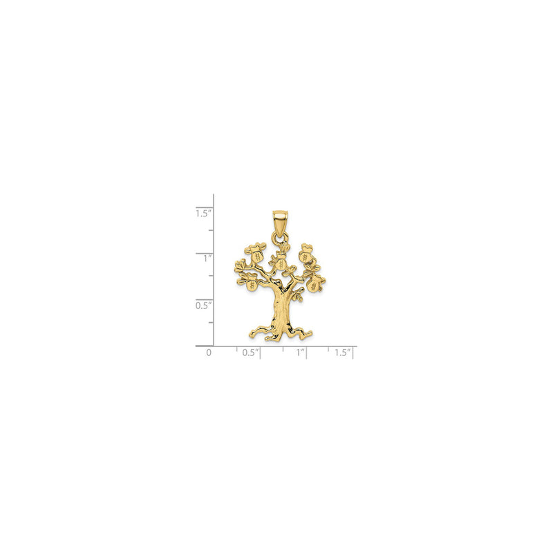 Money Tree Pendant (14K) scale - Popular Jewelry - New York