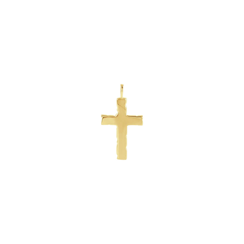 Nugget Cross Pendant yellow (14K) back - Popular Jewelry - New York
