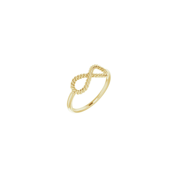 Rope Infinity Ring yellow (14K) main - Popular Jewelry - New York