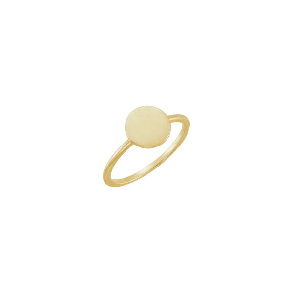 Round Stackable Signet Ring yellow (14K) main - Popular Jewelry - New York
