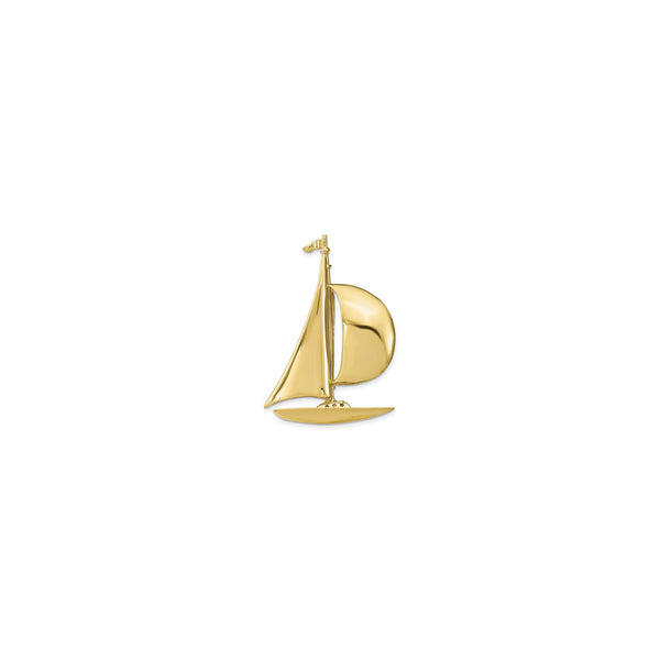 Sailboat Charm (14K) front - Popular Jewelry - New York
