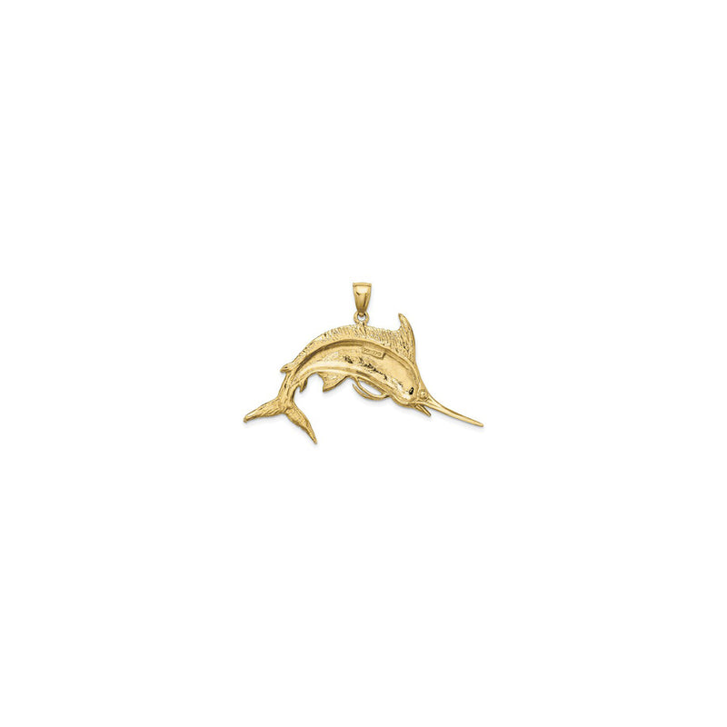 Jumping Marlin Fish Pendant Small (14K) back - Popular Jewelry - New York