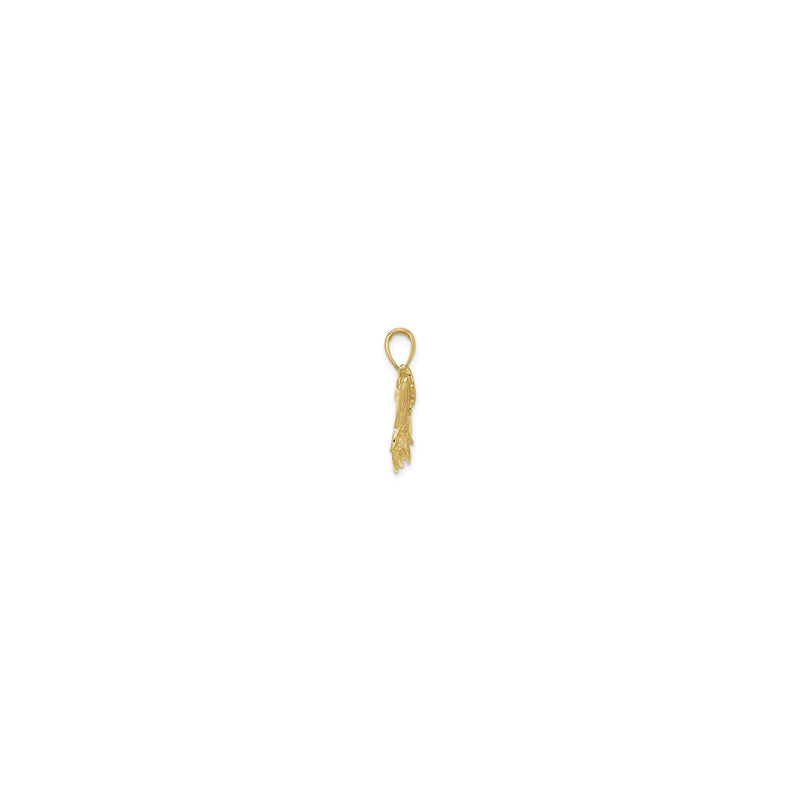 Open Mouth Tarpon Fish Pendant Small (14K) side - Popular Jewelry - New York