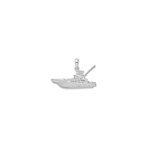 Sportfishing Boat Pendant (Silver) front - Popular Jewelry - New York