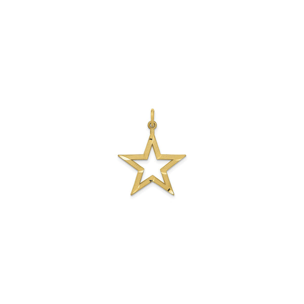 Star Contour Pendant (14K) front - Popular Jewelry - New York