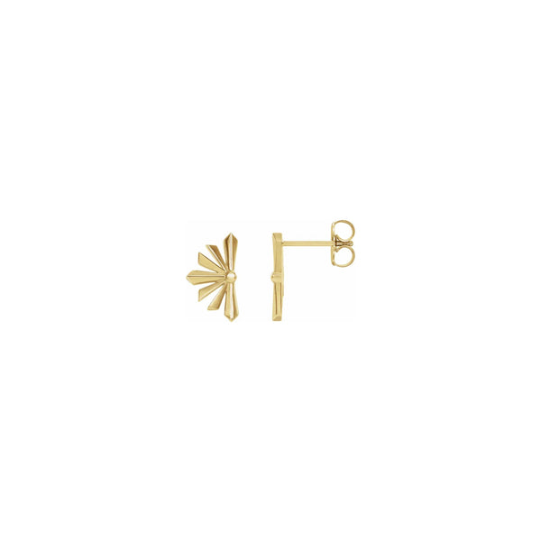 Starburst Stud Earrings yellow (14K) main - Popular Jewelry - New York
