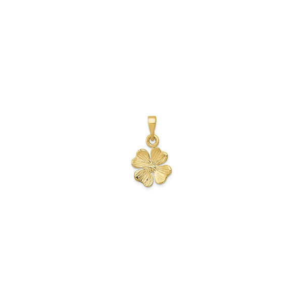 Texture Clover Pendant (14K) front - Popular Jewelry - New York