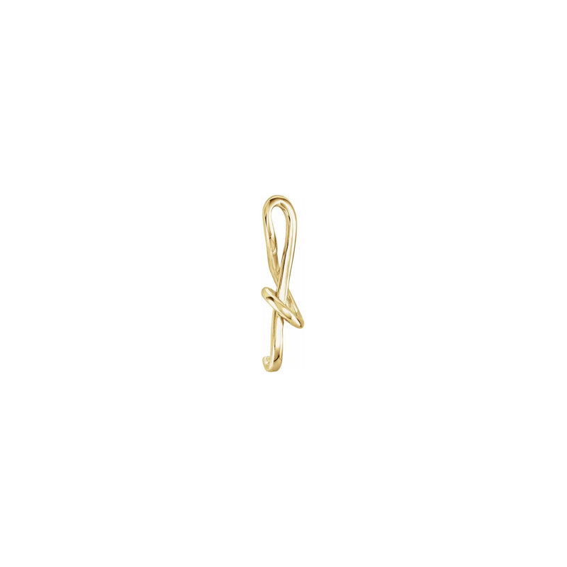 Treble Clef Musical Note Pendant yellow (14K) side  - Popular Jewelry - New York