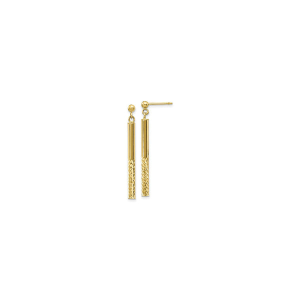 Twinkling Cylinder Dangle Post Earrings yellow (14K) main - Popular Jewelry - New York