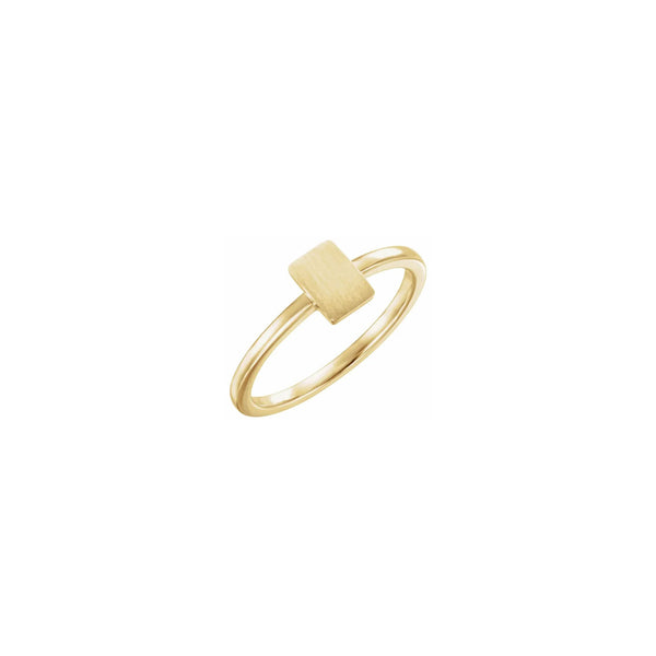 Vertical Rectangle Stackable Signet Ring yellow (14K) main - Popular Jewelry - New York