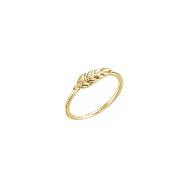 Wheat Stackable Ring yellow (14K) main - Popular Jewelry - New York