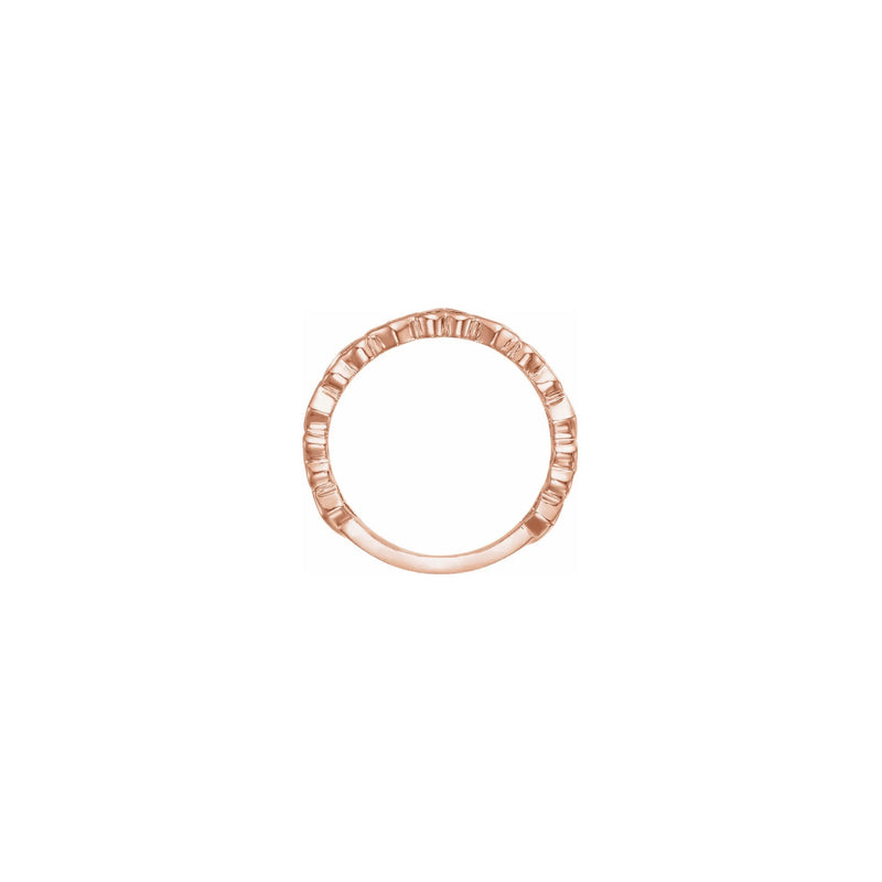 Alternating Heart Contours Ring rose (14K) setting - Popular Jewelry - New York