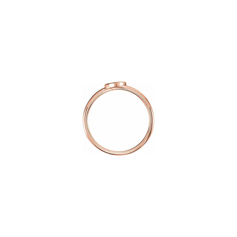 Crescent Moon Stackable Ring rose (14K) setting - Popular Jewelry - New York