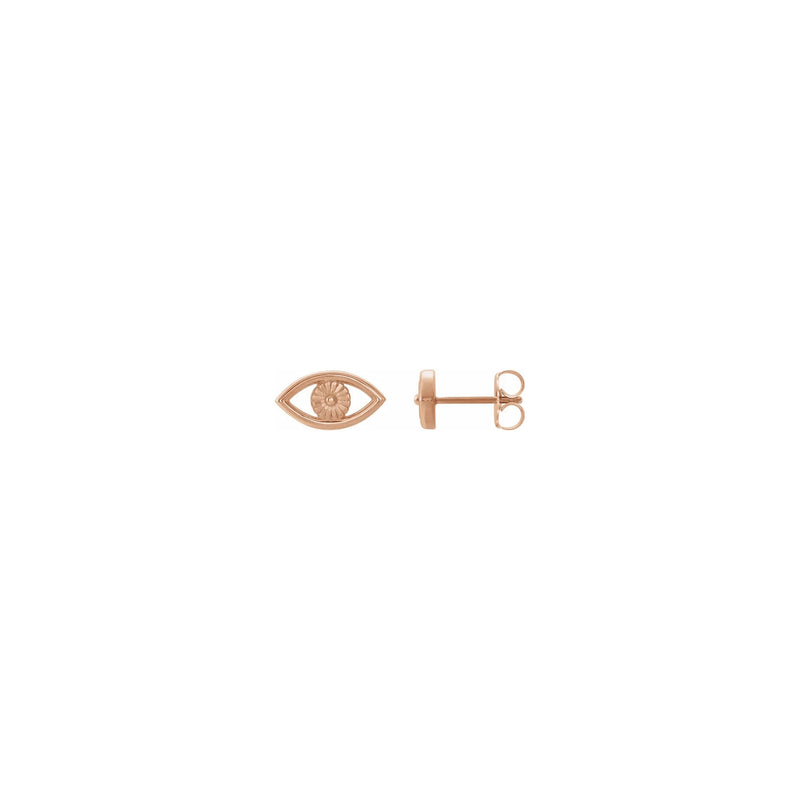 Evil Eye Contour Stud Earrings rose (14K) main - Popular Jewelry - New York