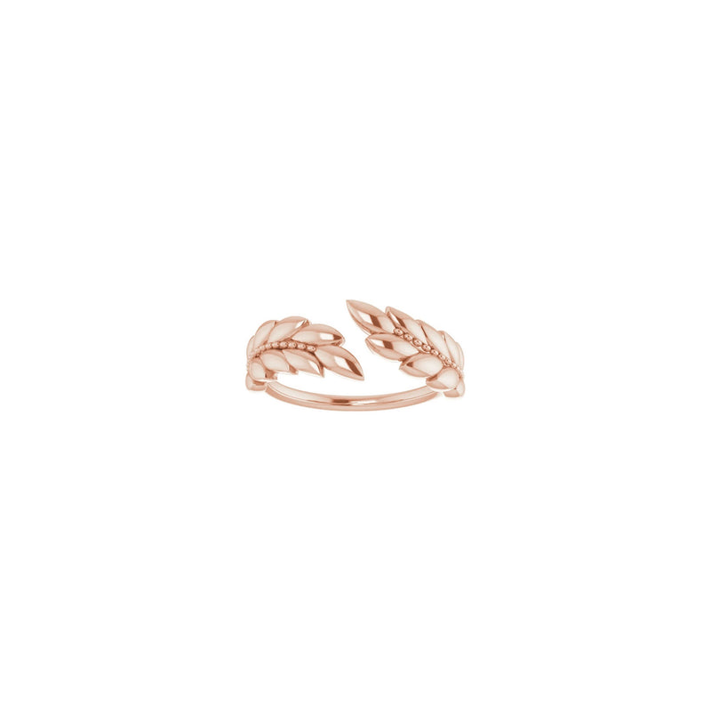 Laurel Wreath Ring rose (14K) front - Popular Jewelry - New York