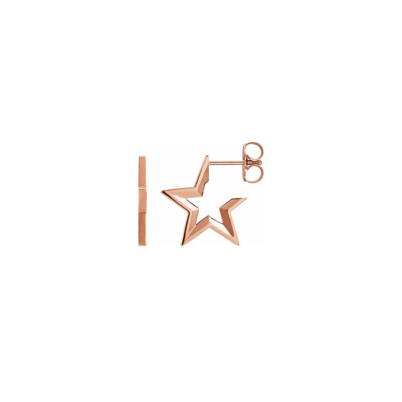 Star Hoop Earrings rose (14K) main - Popular Jewelry - New York