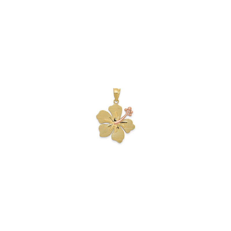 Hibiscus Flower Pendant (14K) front - Popular Jewelry - New York