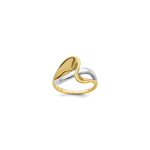 Two-Toned Freeform Wave Ring (14K) main - Popular Jewelry - New York