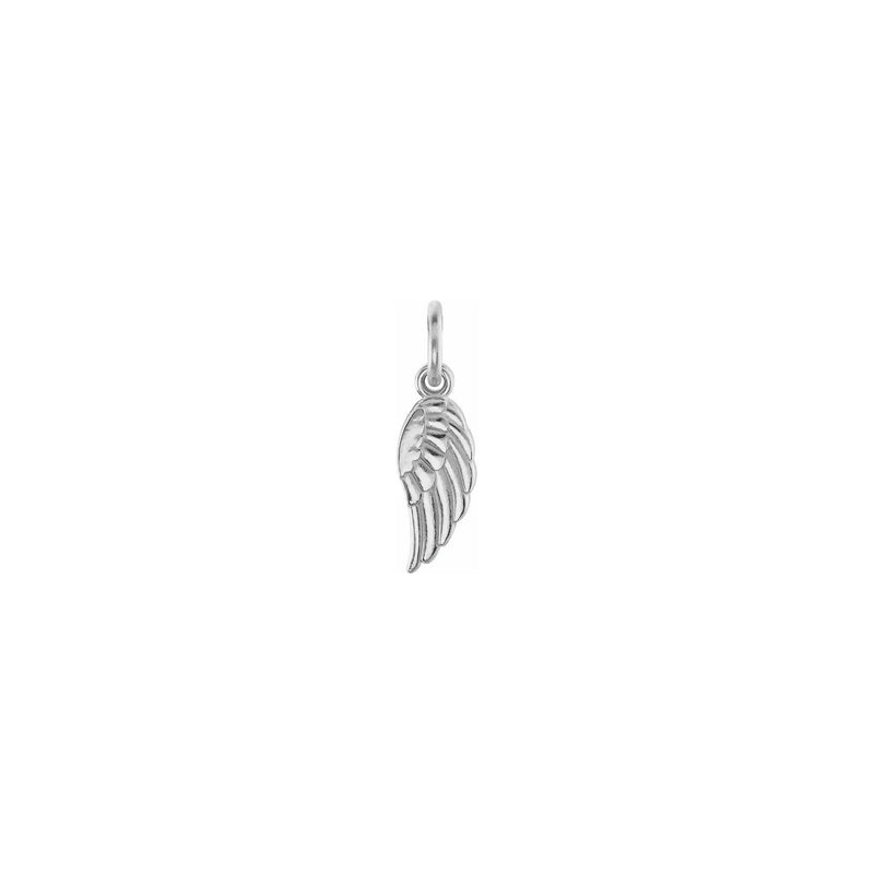 Angel Wing Charm white (14K) front - Popular Jewelry - New York