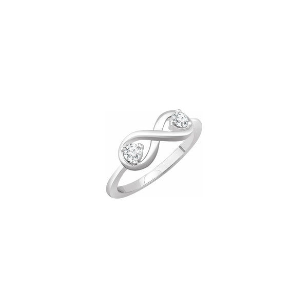 Double Diamond Infinity Ring (14K) main - Popular Jewelry - New York