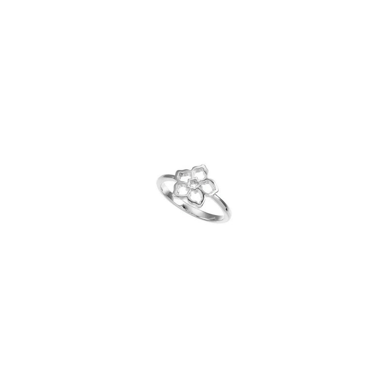Forget Me Not Flower Ring (Silver) diagonal - Popular Jewelry - New York