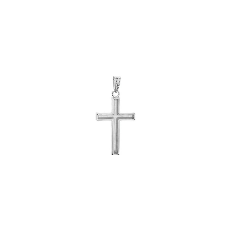 Wood Pattern Cross Pendant white medium (14K) back - Popular Jewelry - New York