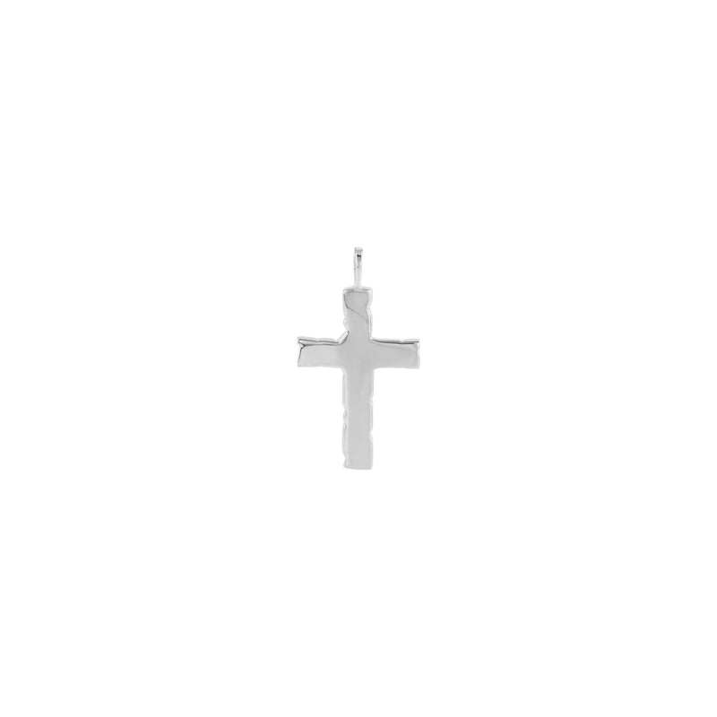 Nugget Cross Pendant white (14K) back  - Popular Jewelry - New York