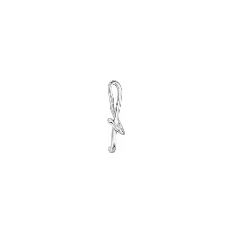 Treble Clef Musical Note Pendant white (14K) side - Popular Jewelry - New York