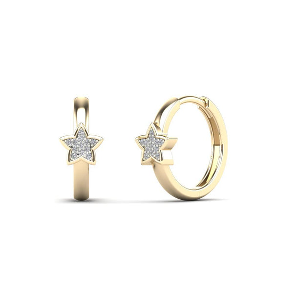 Star Huggie Diamond Earring (14K)