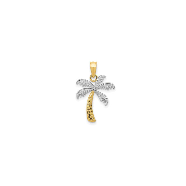 Two-Tone Palm Tree Pendant (14K)
