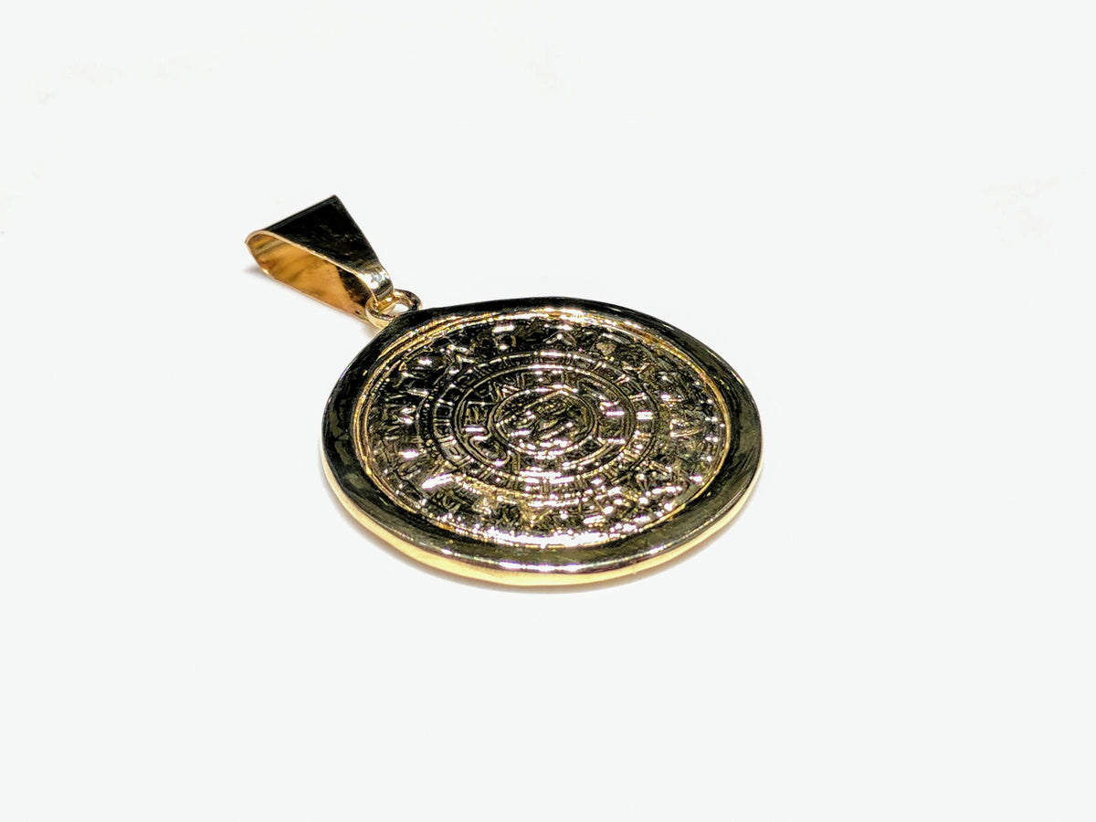 Ancient aztec calendar medallion pendant popular jewelry ancient aztec calendar medallion pendant aloadofball Image collections