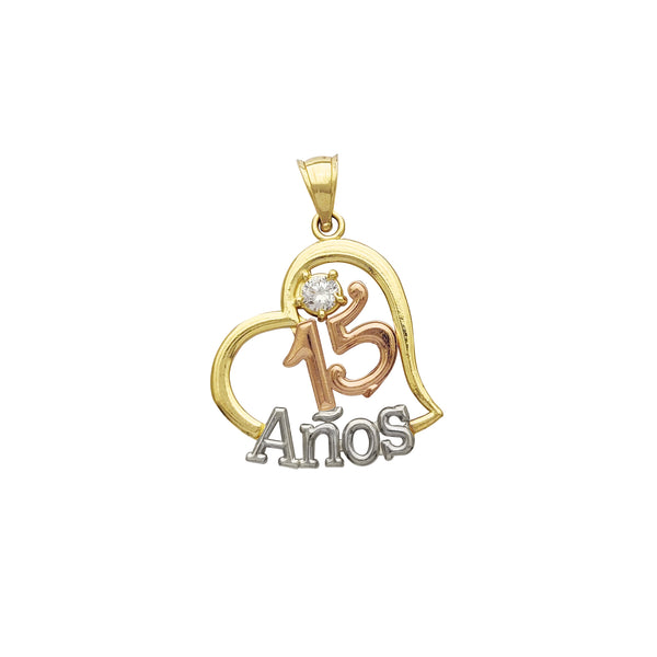 15 Años Heart Pendant (14K) Popular Jewelry New York