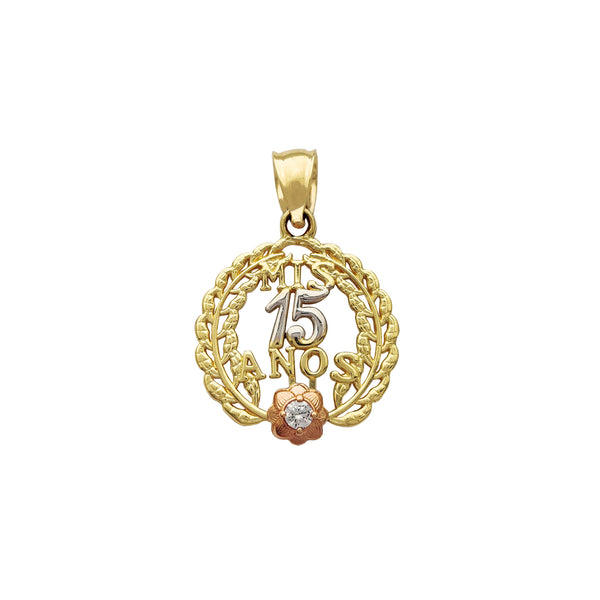 15 Quince-Años Branches & Rose Pendant (14K) Popular Jewelry New York