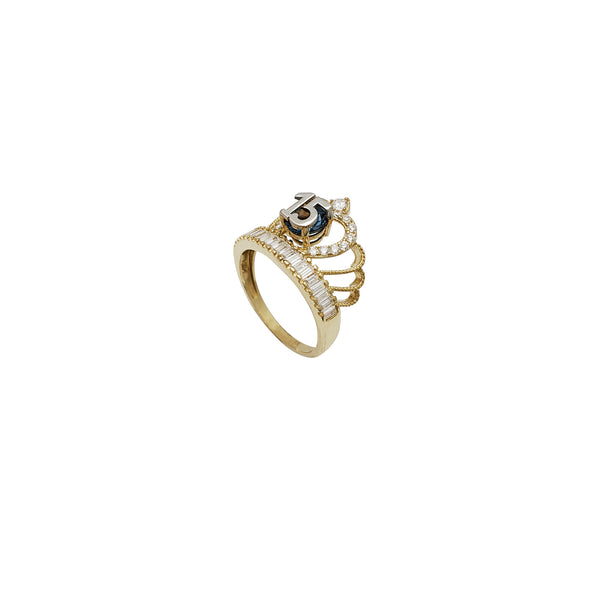 15th Crown CZ Ring (14K)