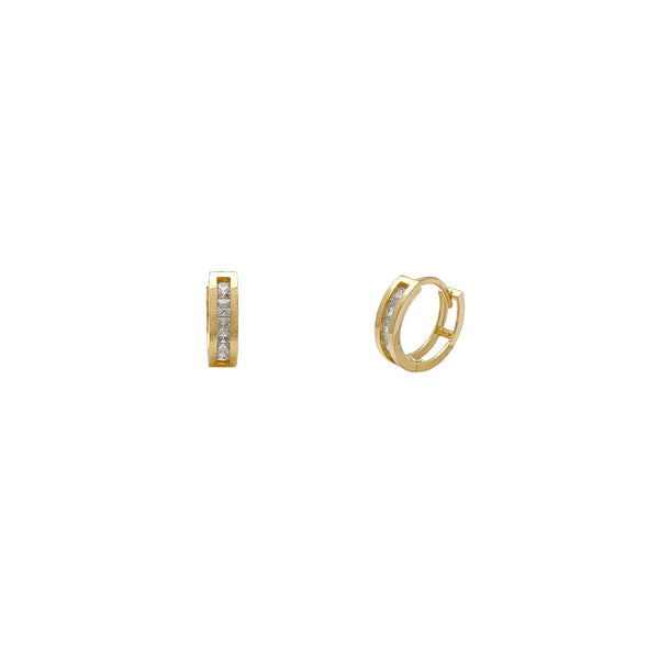 Channel Setting CZ Huggie Orecchini (14K) Popular Jewelry New York