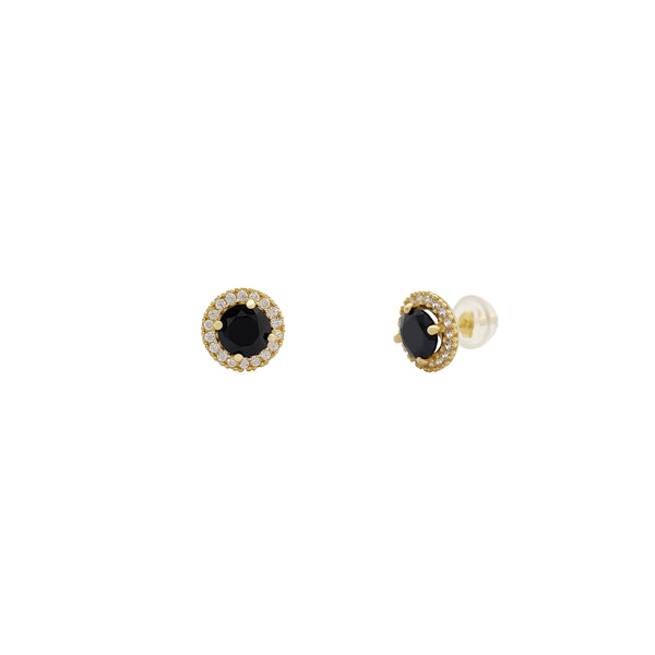 Milgrain Halo Setting Round Stud Earrings (14K) Popular Jewelry Nûyork