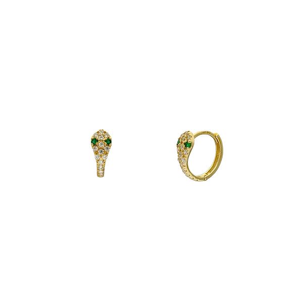 Guharên Snake Green Eyes (14K) Popular Jewelry Nûyork