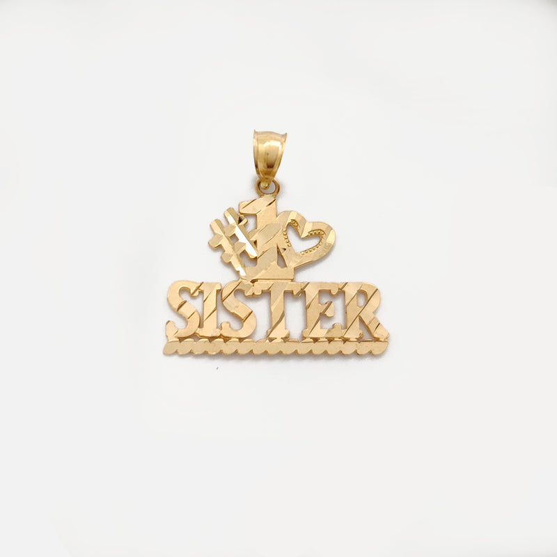 #1 Love Sister Pendant (14K) Popular Jewelry New York