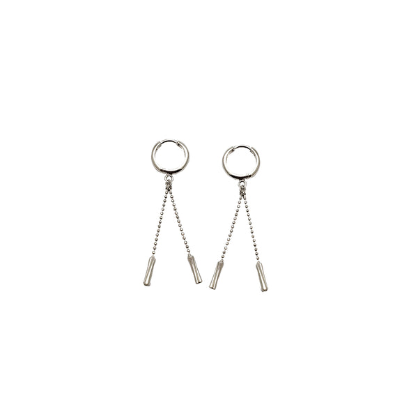 White Gold Hanging Earrings (14K)