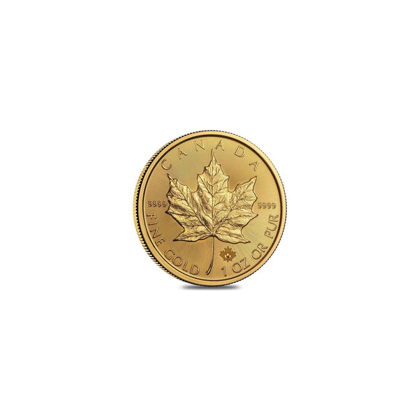 1 oz 31.1g Fine Gold 24K Canadian Maple Leaf Coin $50 Dollars CAD 9999 Back