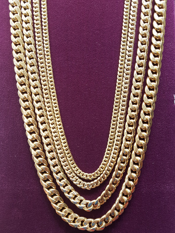 Lightweight Miami Cuban Link Chain - Box Lock (10K) - Popular Jewelry - New York