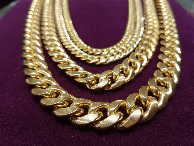 Lightweight Miami Cuban Link Chain - Box Lock (10K)