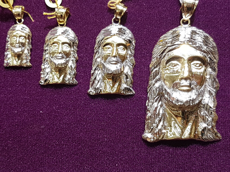 Jesus Head Pendant - Lucky Diamond 恆福珠寶金行 New York City 169 Canal Street 10013 Jewelry store Playboi Charlie Chinatown @luckydiamondny 2124311180