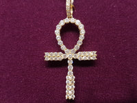 I-Iced-Out Pave Ankh Pendant 14K - Popular Jewelry