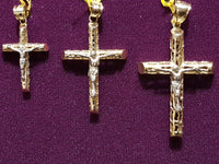 Filigree Tube Cross Pendant 10K (Size Variations)