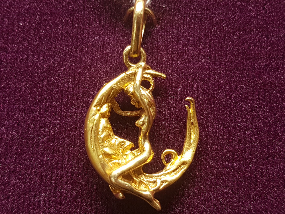 Moon Rider Pendant (14K Yellow) - Popular Jewelry