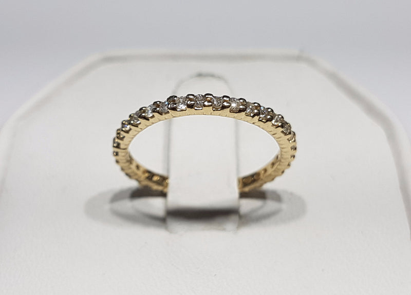 Round-Cut Diamond Slim Eternity Band 14K - Lucky Diamond 恆福珠寶金行 New York City 169 Canal Street 10013 Jewelry store Playboi Charlie Chinatown @luckydiamondny 2124311180