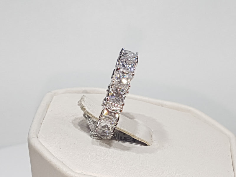 Princess Cut Eternity Band (Side View)